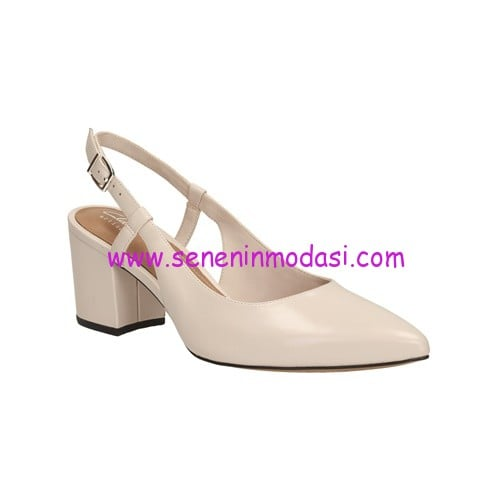Clarks Pravana Claire Nude Pink Leather-340 TL